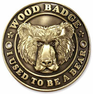 Wood Badge Bear Hiking Stick Medallion