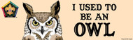 Wood Badge Owl Bumper Sticker - Realistic (SP5065)