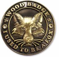 Wood Badge Fox Hiking Stick Medallion