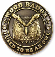Wood Badge Owl Hiking Stick Medallion