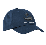 Port & Company® Washed Twill Cap with Powder Horn Logo