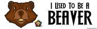Wood Badge Beaver Bumper Sticker - White (SP5071)