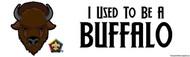 Wood Badge Buffalo Bumper Sticker - White (SP5075)