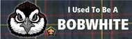 Wood Badge Bobwhite Tartan Bumper Sticker (SP5052)