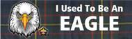 Wood Badge Eagle Tartan Bumper Sticker (SP5054)
