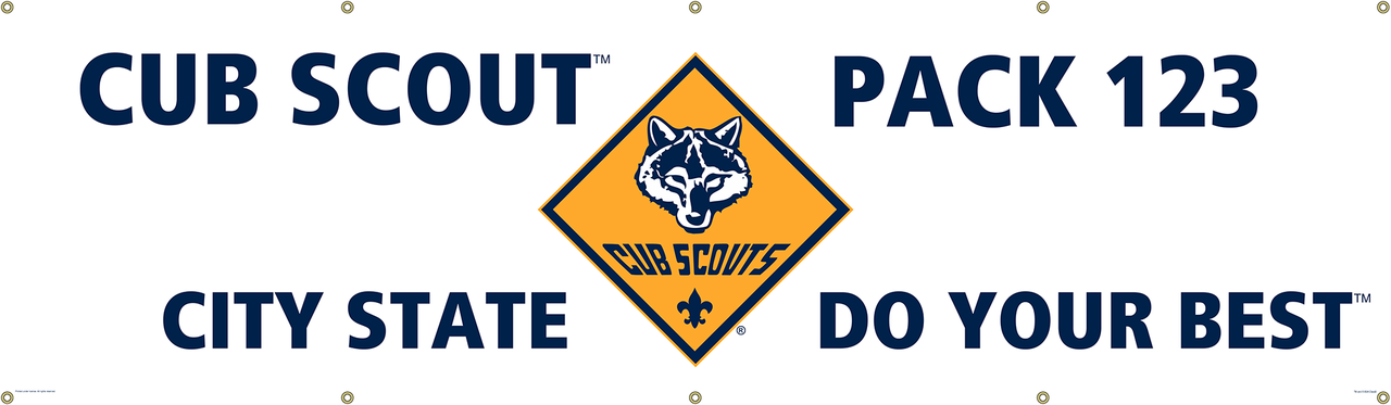 Custom Cub Scout Pack Banner With Cub Scout Logo Sp5028 Classb
