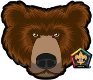 Wood Badge Bear Car Window Sticker (SP5391)