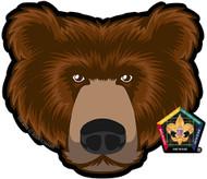Old Logo Wood Badge Bear Car Window Sticker (SP5391)