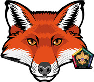 Old Logo Wood Badge Fox Car Window Sticker (SP5396)