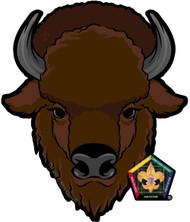 Old Logo Wood Badge Buffalo Car Window Sticker (SP5394)