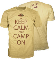 Keep Calm and Camp On T-shirt (SP5032F/5039B)