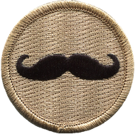 Official Licensed Mustache Patrol Patch