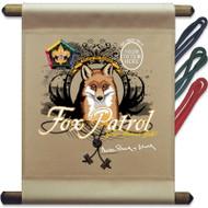 Custom Wood Badge Fox Patrol Mini Flag (SP3257)
