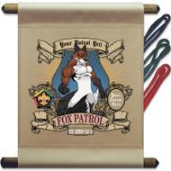 Custom Wood Badge Fox Mini Flag - Flag Only (B5216)