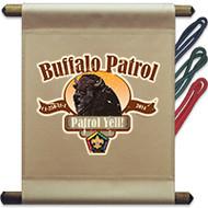 Custom Wood Badge Buffalo Patrol Mini Flag - Western (SP3709)