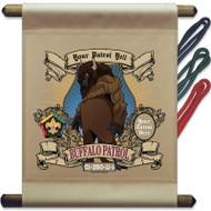 Custom Wood Badge Buffalo Patrol Mini Flag - Mighty (SP3246)