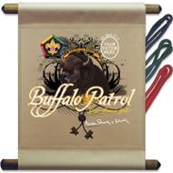 Custom Wood Badge Buffalo Patrol Mini Flag (SP3255)