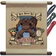 Custom Wood Badge Beaver Mini Flag - Flag Onlyr (SP3247)