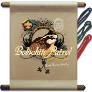 Custom Wood Badge Bobwhite Patrol Mini Flag (SP3256)