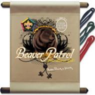 Custom Wood Badge Beaver Mini Flag - Flag Only(SP3253)