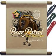 Custom Wood Badge Bear Patrol Mini Flag (SP3252)