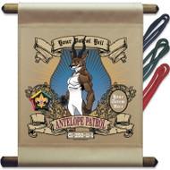 Custom Wood Badge Antelope Patrol Mini Flag - Mighty (SP3750)