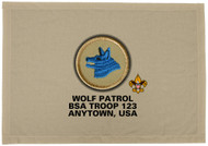Custom Wolf Patrol Patch Flag (SP3231)