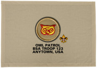 Custom Owl Patrol Patch Flag (SP3216)