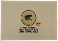 Custom Frog Patrol Patch Flag (SP3209)
