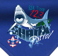 Custom Digitally Printed Shark Patrol Neckerchief (SP2776)