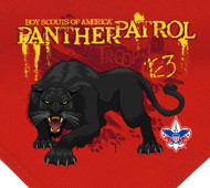 Custom Digitally Printed Panther Patrol Neckerchief (SP2948)