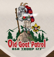 Custom Digitally Printed Old Goat Patrol Neckerchief (SP5880)
