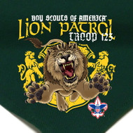 Custom Digitally Printed Lion Patrol Neckerchief (SP2719)