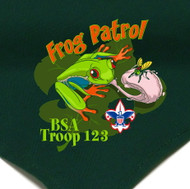 Custom Digitally Printed Frog Patrol Neckerchief (SP2779)