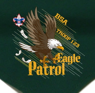 Custom Digitally Printed Eagle Patrol Neckerchief (SP2777)