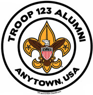 Custom Boy Scout Troop Alumni Car Sticker with Color Logo (SP5487)