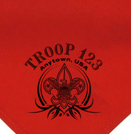 Custom Boy Scout Troop Neckerchief with BSA Tribal Banner (SP2181)