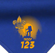 Custom Boy Scout Troop Neckerchief with Troop Moon Silhouette (SP3489)