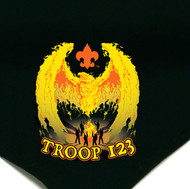 Custom Boy Scout Troop Neckerchief with Rising Phoenix (SP4384)