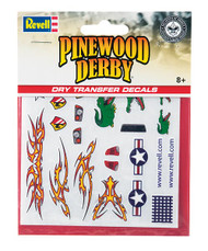 Pinewood Derby Dry Transfer Decal E
