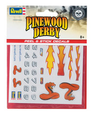 Pinewood Derby Peel and Stick Decals A