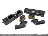 AWE Tuning S-FLO Carbon Fibre Intake kit - Porsche 991 Turbo & Turbo-S