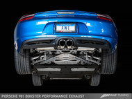 AWE Tuning Porsche 981 Boxster 2.7 Performance Exhaust - Chrome Silver Tailpipes
