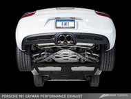 AWE Tuning Porsche 981 Cayman 'S' Performance Exhaust - Chrome Silver Tailpipes