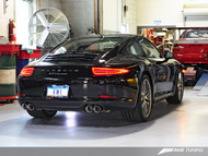 AWE Tuning Porsche 991 Carrera and Carrera 4 Performance Tailpipe Set - Chrome Silver Tailpipe Trims