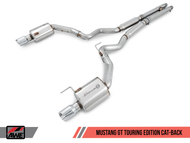 AWE Tuning Touring Edition Cat Back Exhaust - Ford Mustang GT