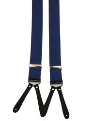 Navy Button Suspenders