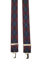 Burgundy Plaid Suspenders