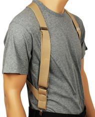 Beige Hip Clip Suspenders