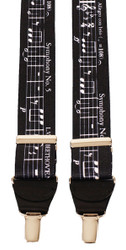 Black Musical Notes Braces